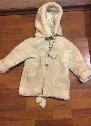 Детская шуба из натуральной овчины