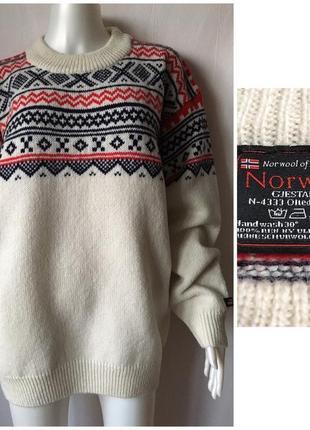 Norwool аутентичный норвежский свитер из качественной толстой теплой шерсти