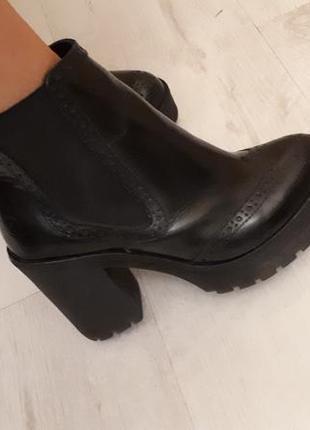 Кожаные ботинки bronx 38р 24см