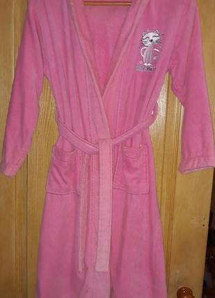 Банный махровый халат на 9-10 лет