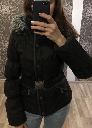Куртка с капишеном осень-тёплая зима golddiga