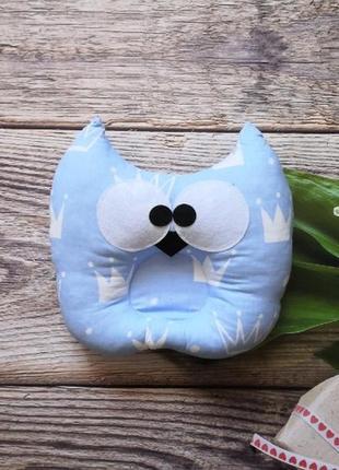 Детская стильная ортопедическая подушка сова с ушками