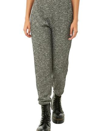 Стильные меланжевые спортивные штаны joggers forever 21. все размеры