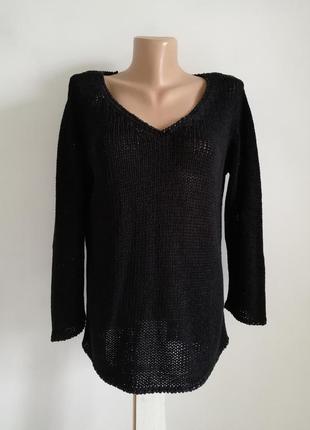 🍁чёрный пуловер 🍁базовый черный джемпер