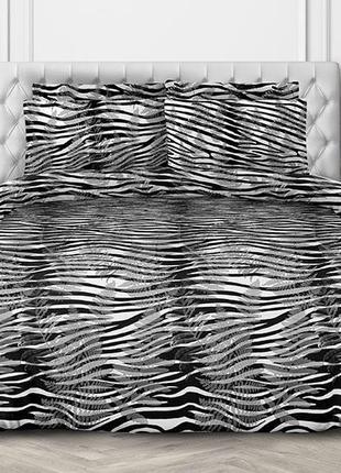 Черно-белое постельное белье нуар (поплин, 100% хлопок)