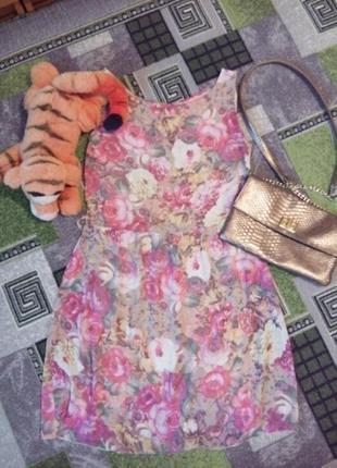 Платье,шифон с подкладкой.