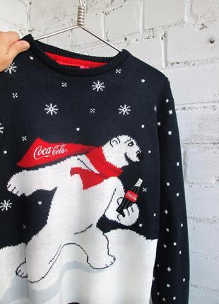 Свитер cedar wood state новогодний coca cola с полярным мишкой унисекс