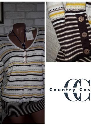 Тонкий свитерок с бисером р xl сток country casuals