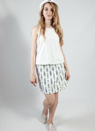 Платье женское летнее отрезное повседневное без рукава camaieu