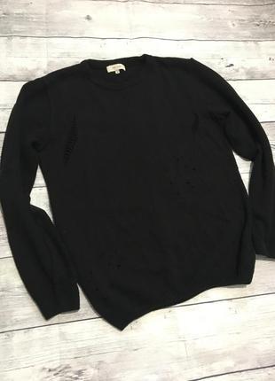Модный свитер рваный,с потёртостями