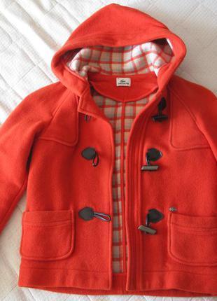 Пальто с капюшоном lacoste