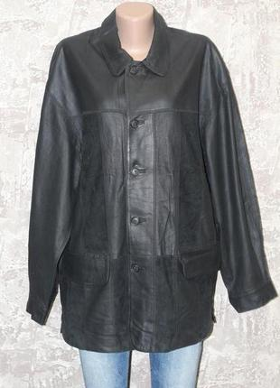 Стильная куртка класса люкс из кожи nappa 50-52 alba moda. италия