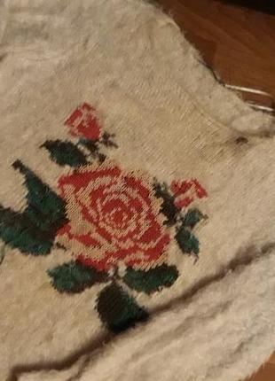 Тепленький свитер, р.42/44, мягкая травка, молочный
