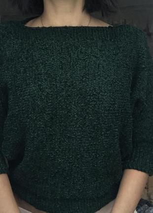 Кофта-топ изумрудно-зелёного цвета