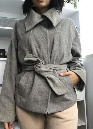 Шерстяное пальто (полупальто) h&m