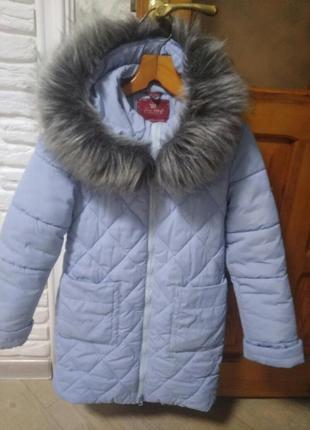 Зимнее пальто для девочки поллиана размер 34