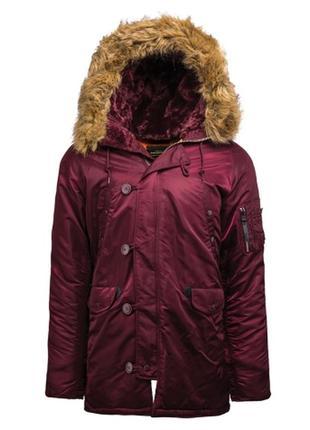 Куртка зимняя alpha industries n-3b slim fit parka.