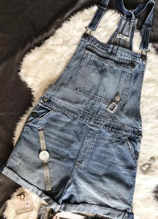 Крутой джинсовый комбинезон от abercrombie&fitch
