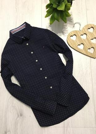 Брендовая рубашка в модный принт
