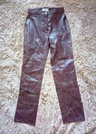 Стильные брендовые дизайнерские кожаные брюки штаны sportmax max mara италия