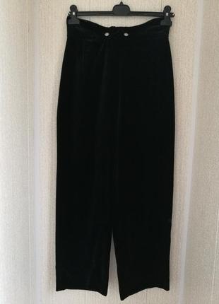 Стильные бархатные брюки кюлоты,мега высокая посадка pilot