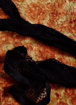 Лосины леггинсы сеточка с кружевом