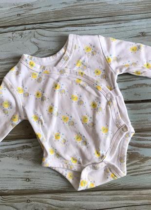 Боди распашонка с длинным рукавом для новорожденных
