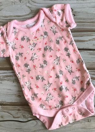 Новый красивый полномерный плотный хлопковый боди для новорожденной девочки