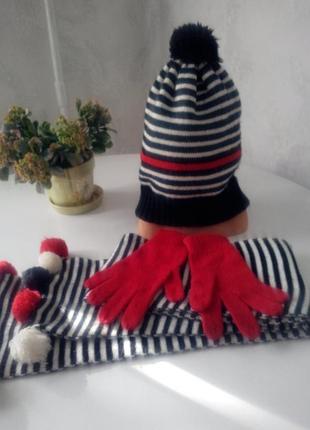 Шапка + шарф для девочки