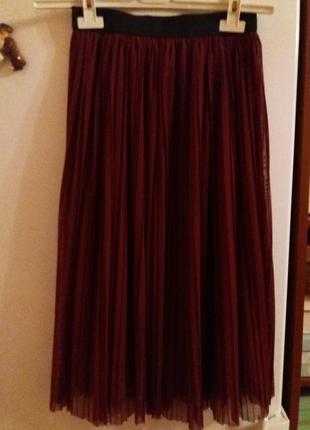 Юбка плиссе (гофре), легкая на подкладке