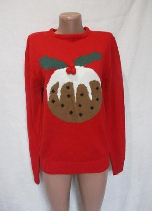 Новогодний рождественский свитер с кексиком