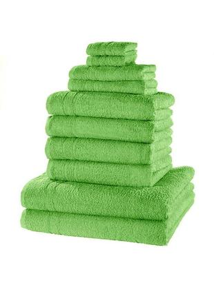 """Комплект полотенец """" зеленое яблоко """" ( комплект 10 штук. )"""
