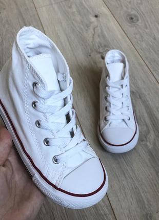 Высокие кеды белые converse (оригинал) 26 р