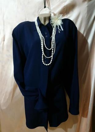 Блуза,рубашка для роскошной женщины.linea petit./размер 4-6xl