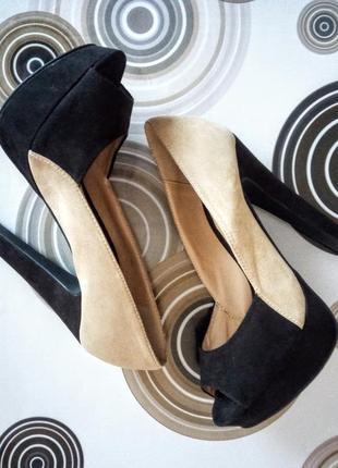 Шикарні туфлі на каблуку/ лодочки на каблуке с открытым носком