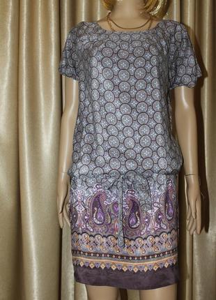 Красивое платье из натурального шелка coft grey /100%  шелк