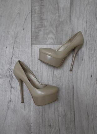 Вечерние туфли, базовые нюдовые бежевые туфли на шпильке silver rose, р.37