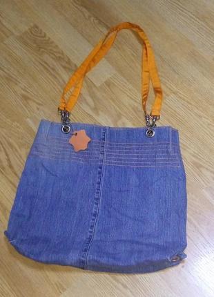Стильная джинсовая сумка.