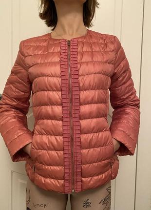Куртка пуховик weekend max mara розовая