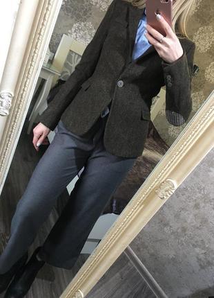 Шерстяной пиджак zara 100% шерсть!
