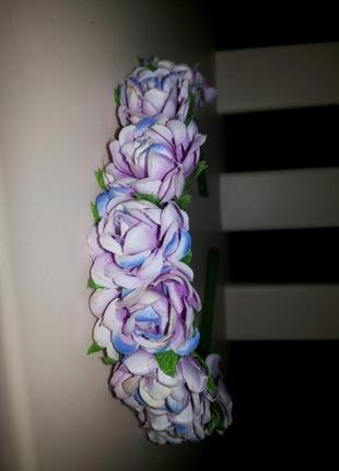 Венок украшение розы