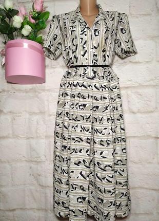 Платье миди спереди складочки р 16