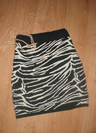 Шикарна тепла трикотажна юбочка від janina великий розмір от - 95-120