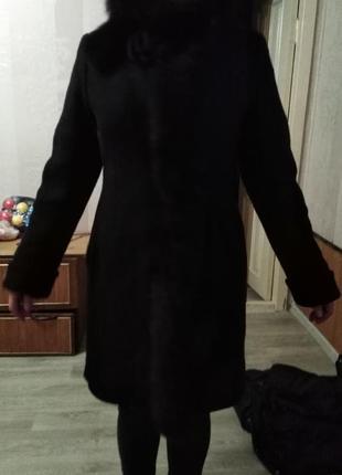 Зимнее драповое пальто