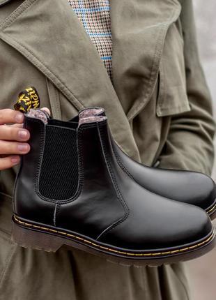 Ботинки dr. martens зима, на меху ❄️. зимние ботинки, кожанные ботинки