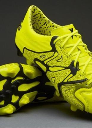 Adidas x15.1 fg b26979 мужские кожаные профессиональные  бутсы копы оригинал