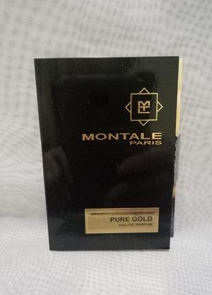 Montale pure gold парфюмированная вода vial 2мл