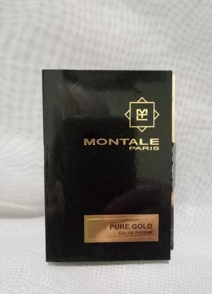 Montale pure gold парфюмированная вода,виалка 2мл,пробник