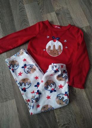 Пижама флисовая,домашняя одежда для девочки 4-5лет