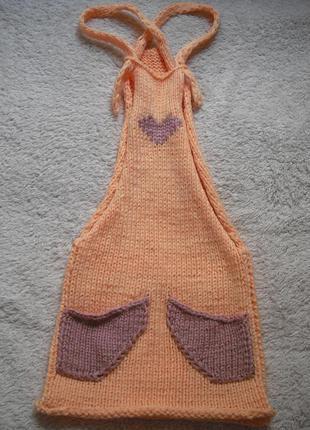 Яркий вязаный сарафан hand made